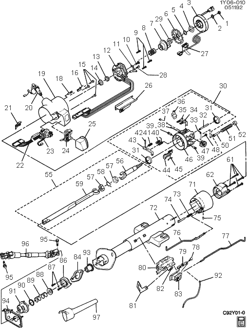 Diagram 92 S10 Steering Column Diagram 194 125 9 Pro
