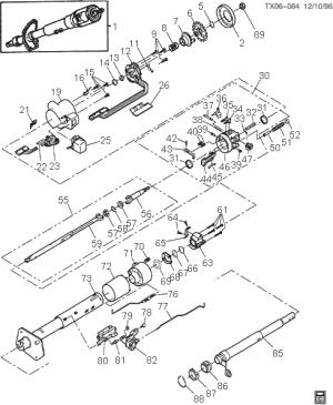exploded view for the 1993 Chevrolet Blazer Tilt