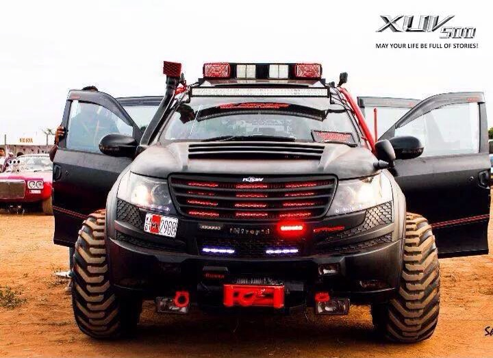Modified cars in india for Xuv 500 exterior modified