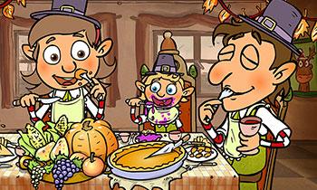 characterdesign-illustration-wichtel-spiel-thanksgiving