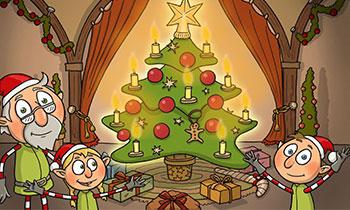 characterdesign-illustration-wichtel-spiel-weihnachten