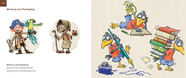 Sedbook Illustratoren Organisation Doppelseite Stefan Leuchtenberg