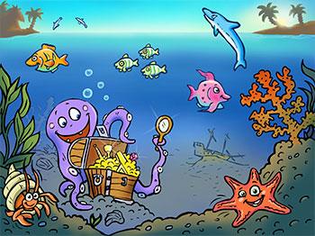 illustration-kinder-app-kaenguru--fische-im-meer