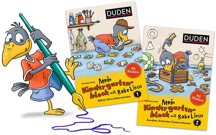 characterdesign-illustration-leitfigur-rabe-linus-kindergarten