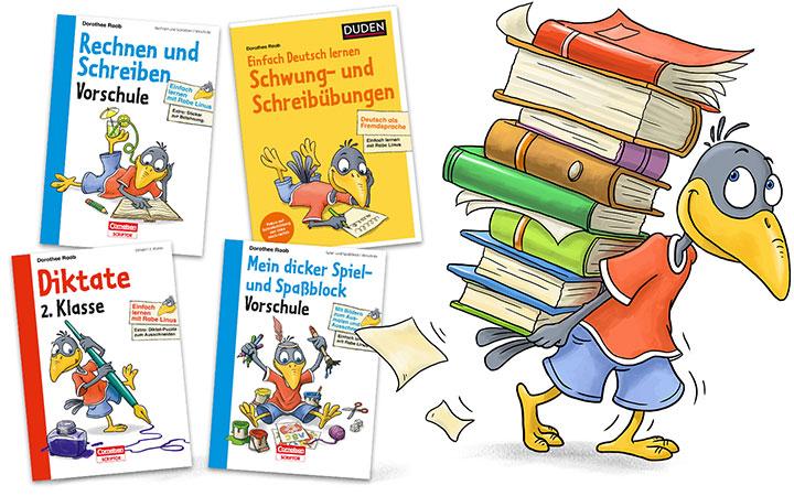 characterdesign-illustration-leitfigur-rabe-linus-lernhilfen