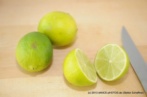 Limetten auspressen