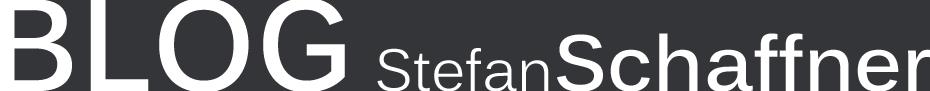 Stefan Schaffner's BLOG Logo