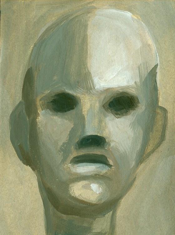 ritratto di un uomo dipinto su una cartolina