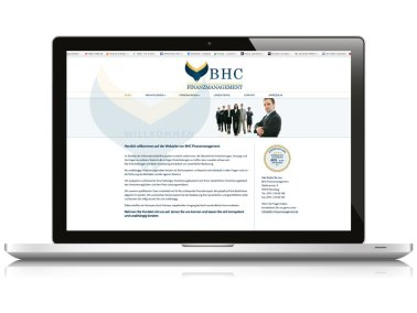 Website BHC Finanzmanagement