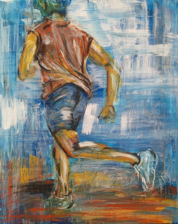 Expressionismus, Malerei, Läufer, Stefanie Rogge