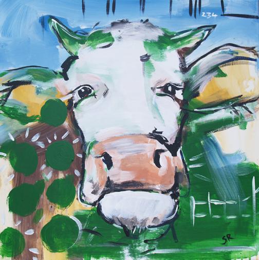 Expressionistische Gemälde, modern Art, Motiv Stier
