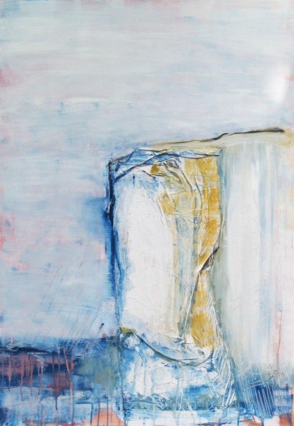 """abstrakte Malerei, Informal, """"Steilküste"""""""