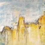 Abstrakte Malerei auf Leinwand Klippen