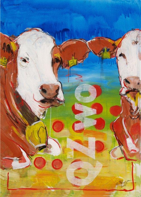 Kunstdruck Kuh auf Leinwand kaufen