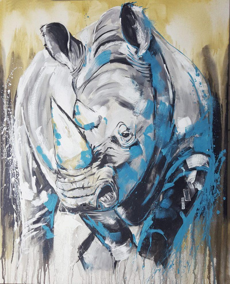 Rhino, Malerei