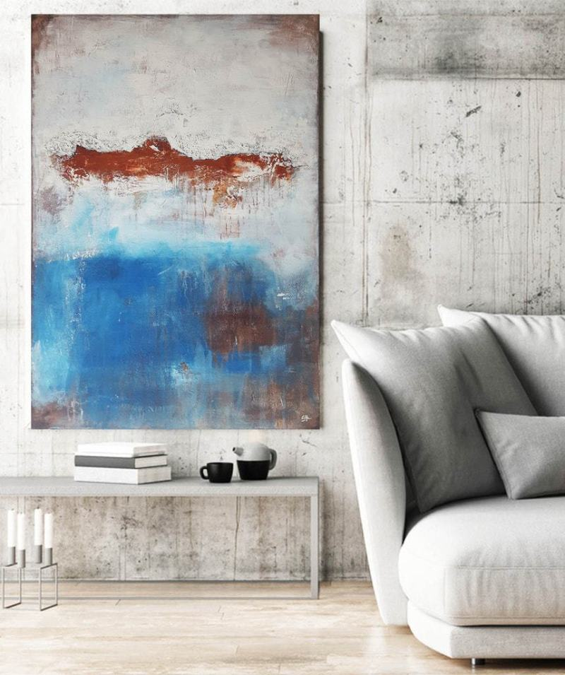 Wandbild abstrakt: abstrakt Malerei Im Raum