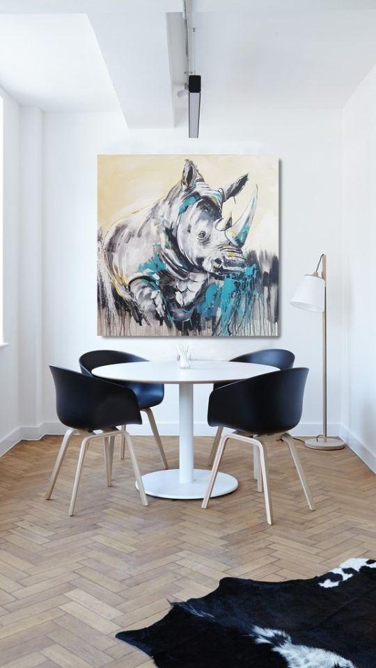 Raumansicht Bild Nashorn