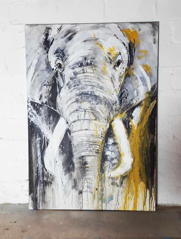 Elefant, Unikat auf Leinwand kaufen