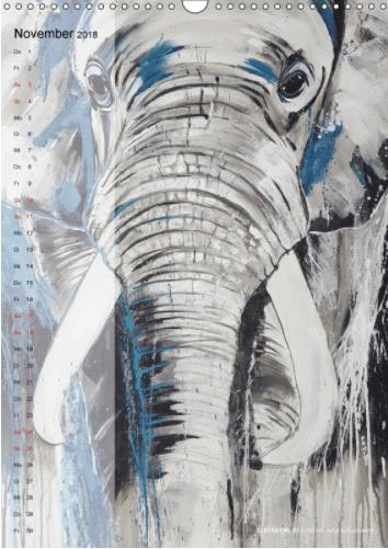 Motiv Elefant Kalender