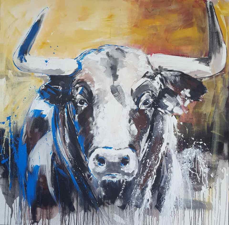 Stier kopf gemalt