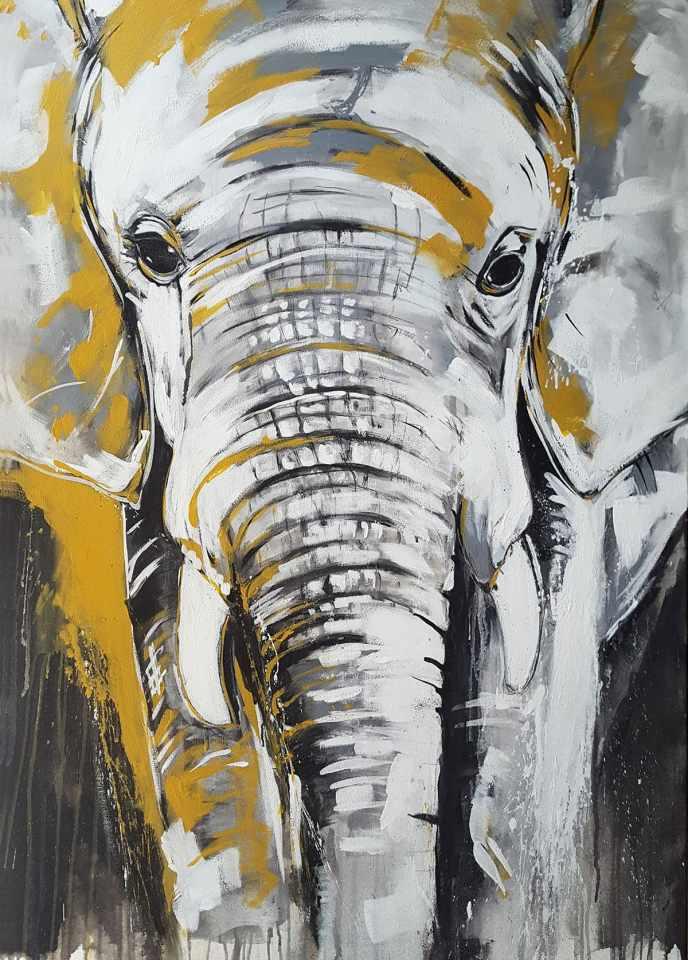 Kunstdruck Elefant