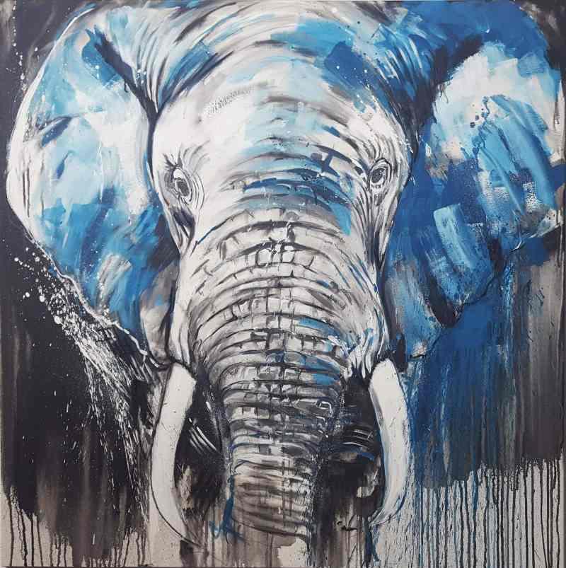Elefant no 5 expressives Gemälde