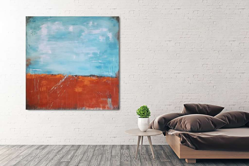 BlauinBronze2-wand3-web | Abstrakte Bilder, Original Gemälde ...