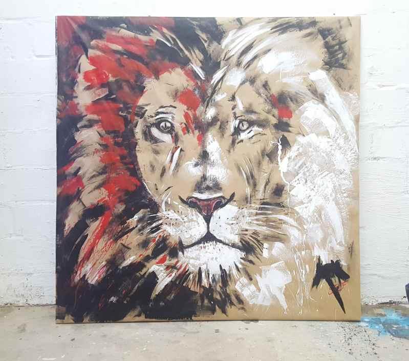 Löwenkopf, im Atelier Stefanie Rogge