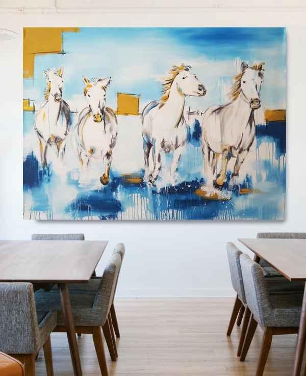 Künstlerin Stefanie Rogge: Camargue Pferde 2