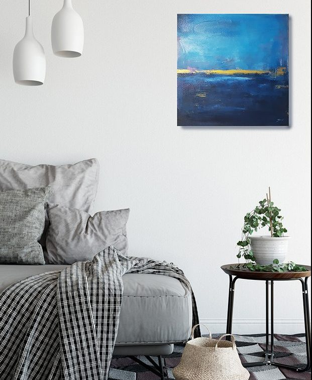 abstraktes maritimes bild Malerei