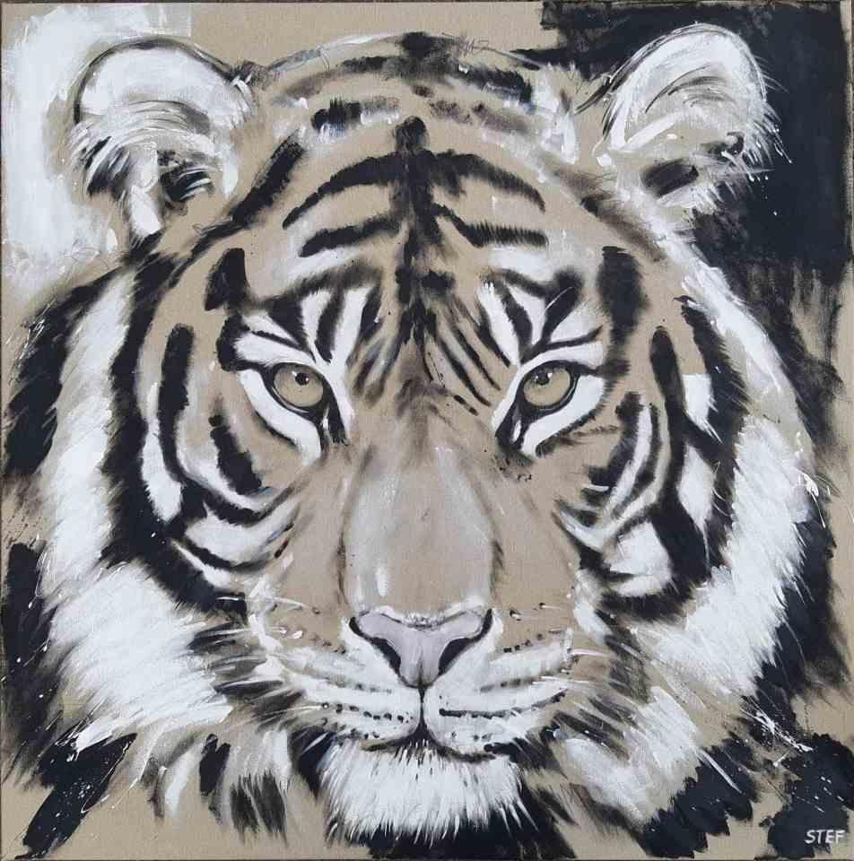 Gemälde Tiger von Stefanie Rogge