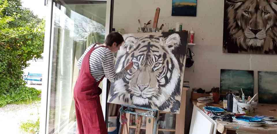 zeitgenössische Malerei von Stefanie Rogge, Original Gemälde direkt im Atelier kaufen