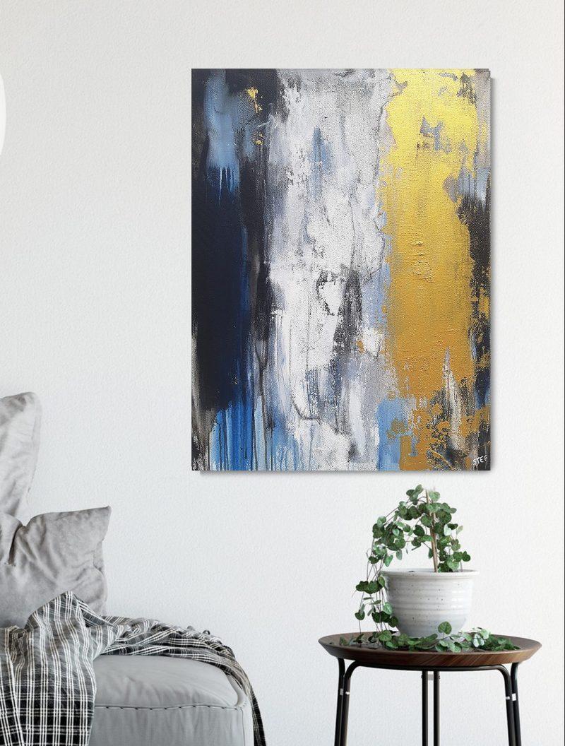 """Gemälde in Gold """"KÜSTENFARBEN 2"""""""
