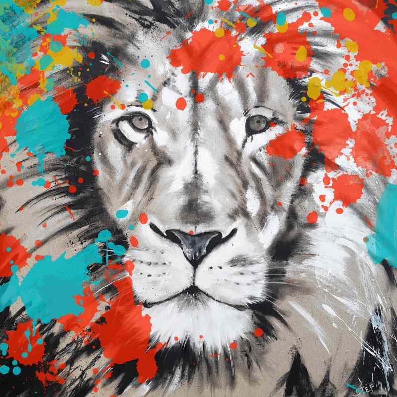 Löwe Bild auf Leinwand Kunst