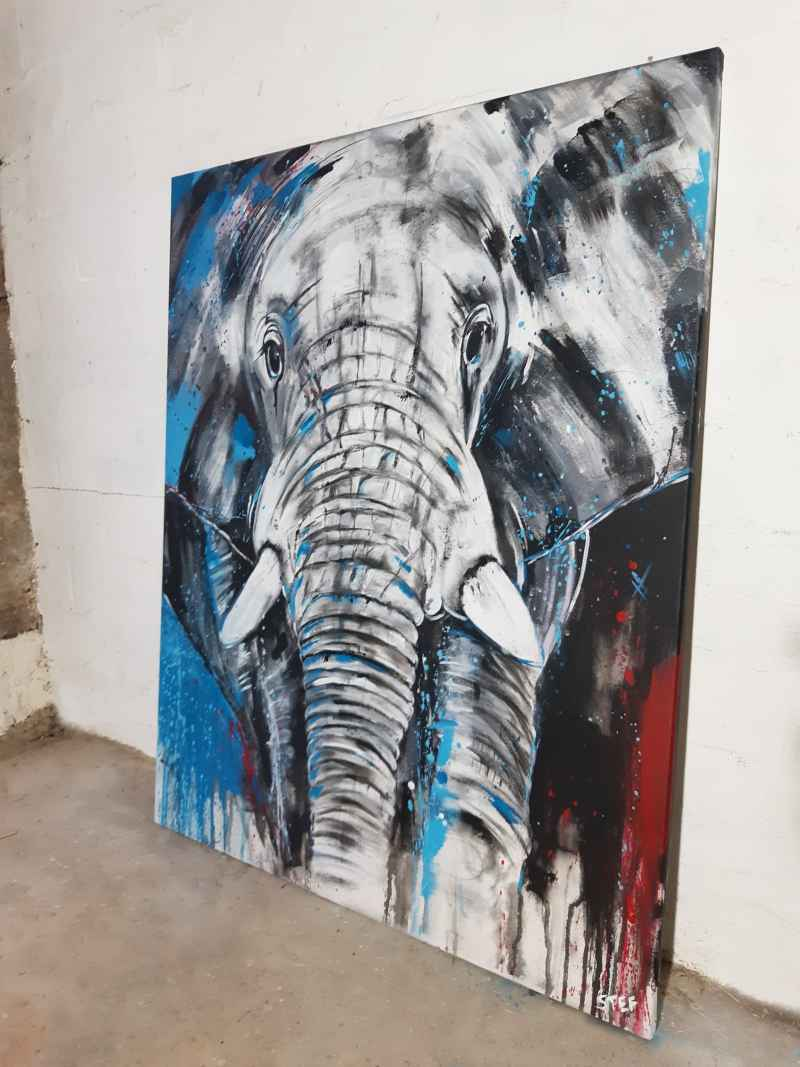 Gemälde Elefant von Stefanie Rogge