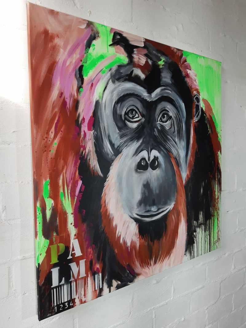 Orang Utan Gemälde von Stefanie Rogge