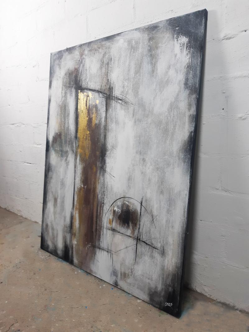 abstraktes Gemälde Stefanie Rogge