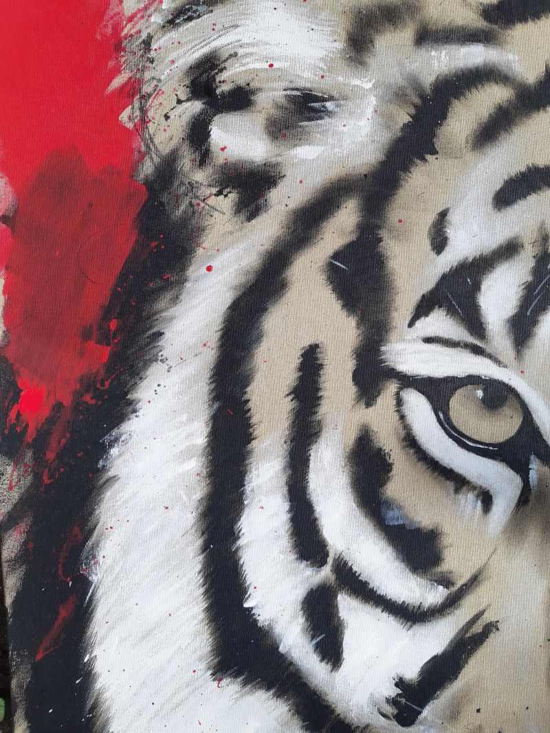 Gemälde Tigerkopf