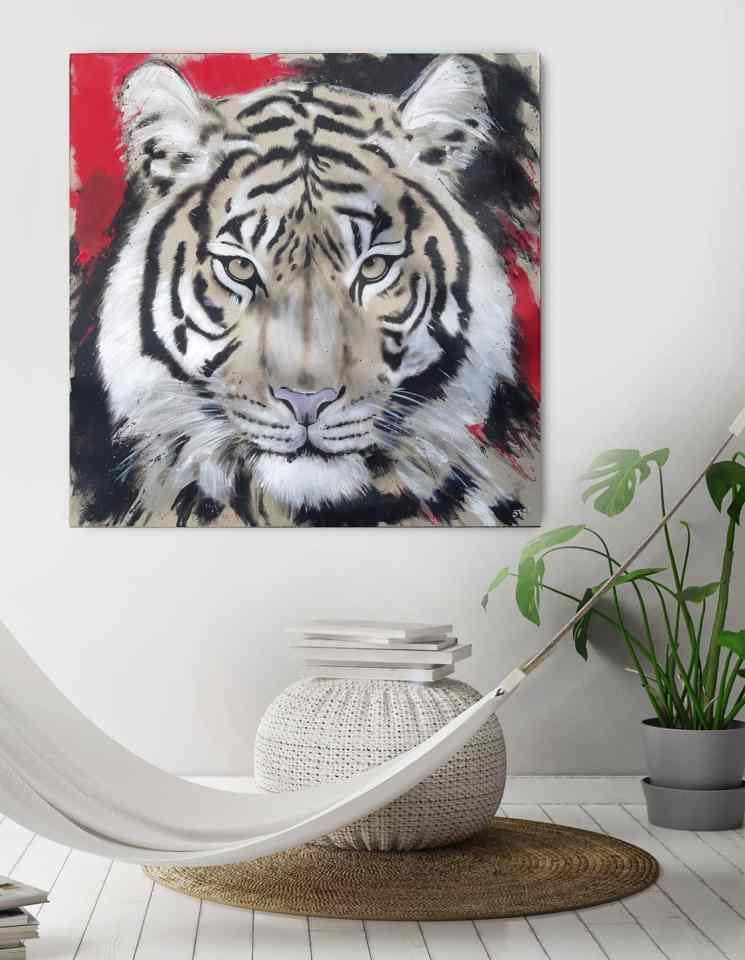 Tiger Gemälde von Stefanie Rogge