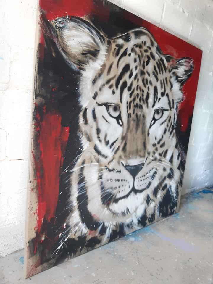 Gemälde Leopard