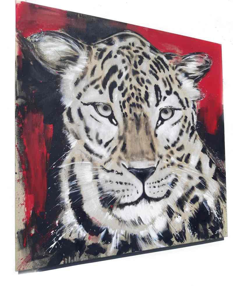 Gemälde von Stefanie Rogge Leopard