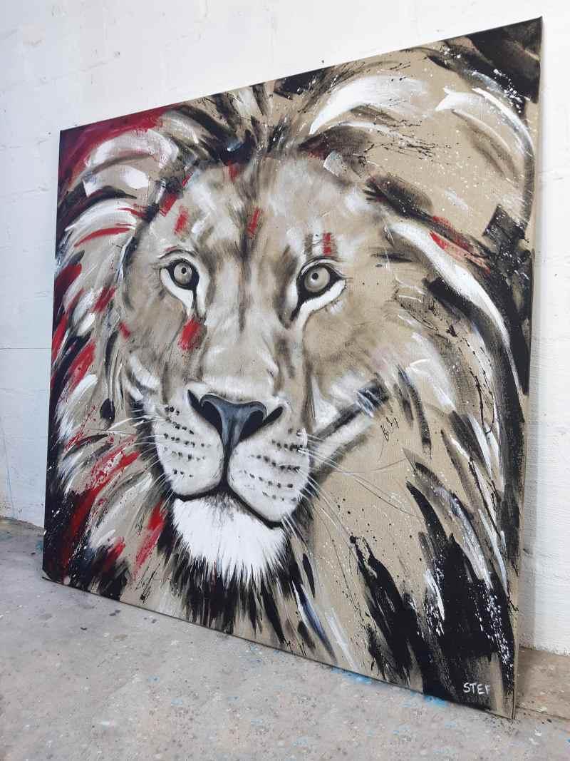 Löwenkopf modernes Gemälde