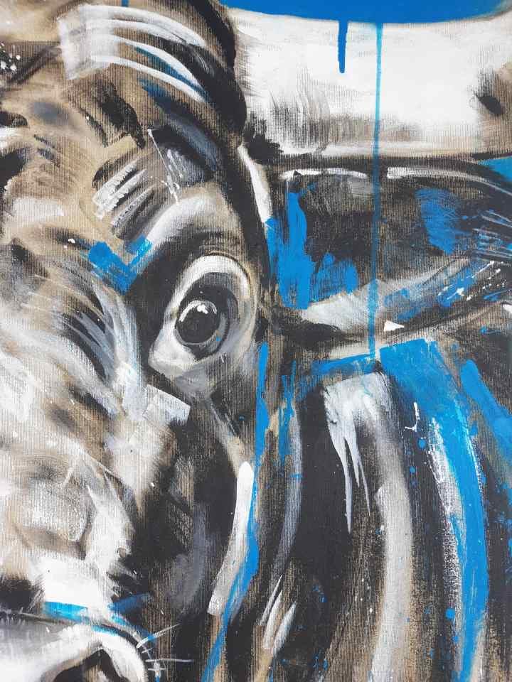 Stier Gemälde Detail