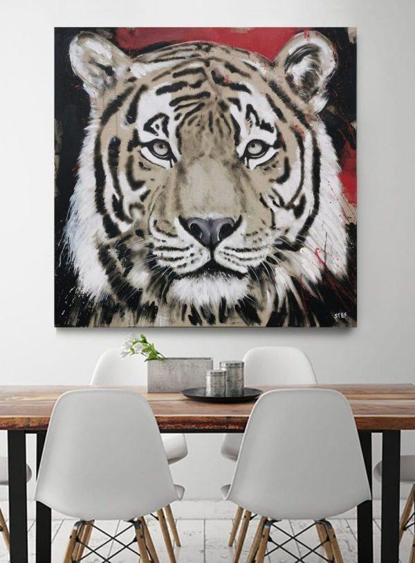 Tiger Kopf Original modernes Gemälde