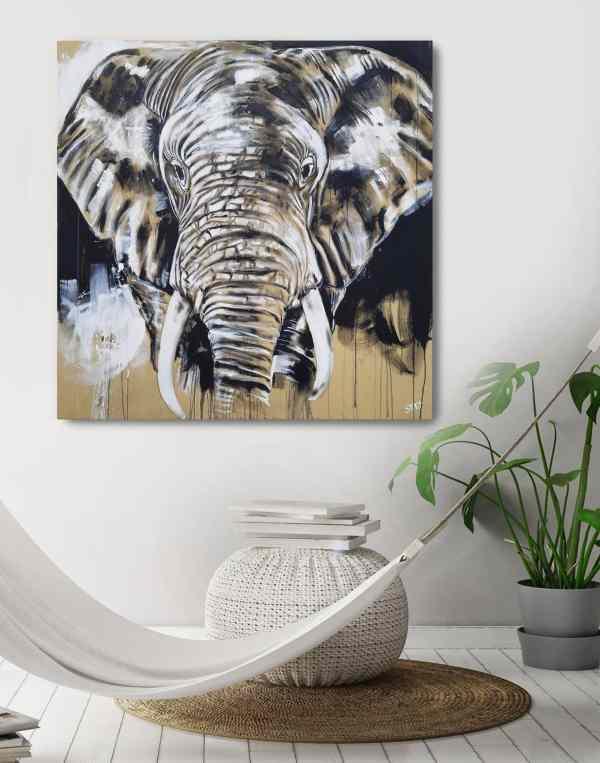 Elefant Leinwandbild von Stefanie Rogge