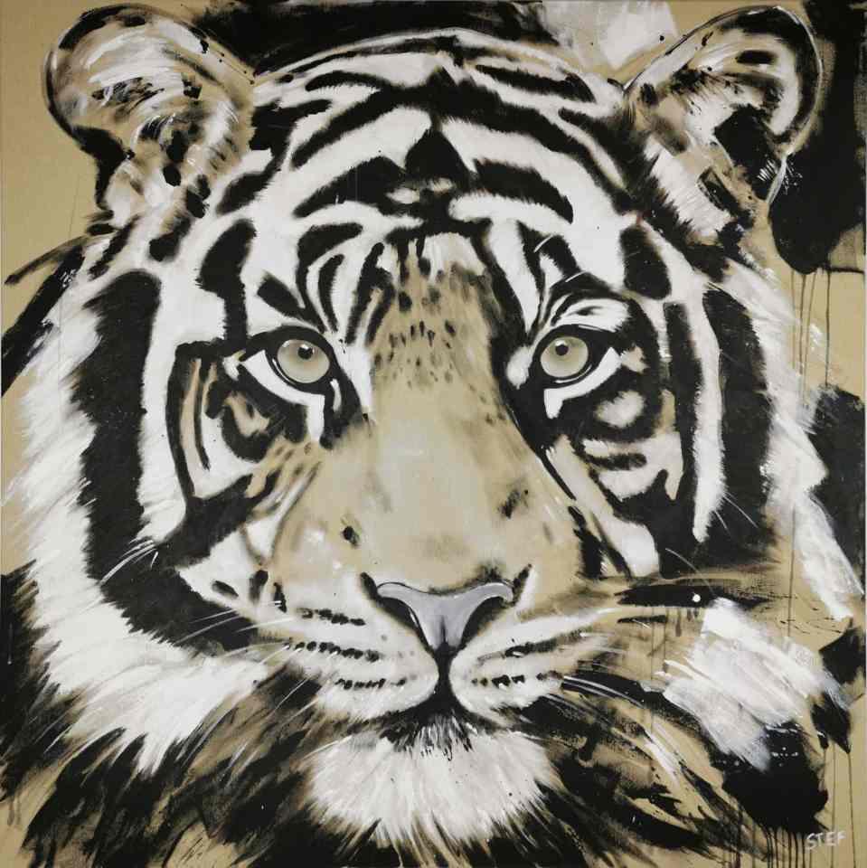 Original Gemälde Tiger