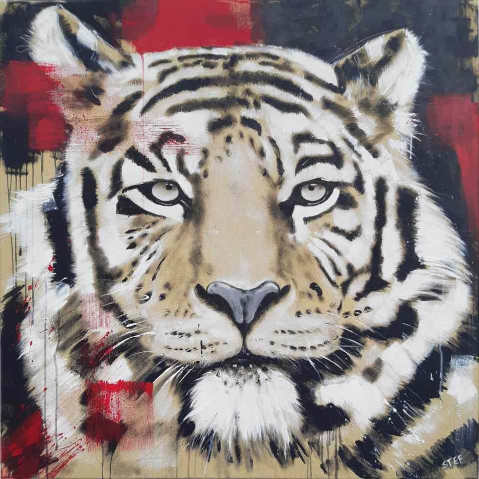 Tigerkopf Gemälde