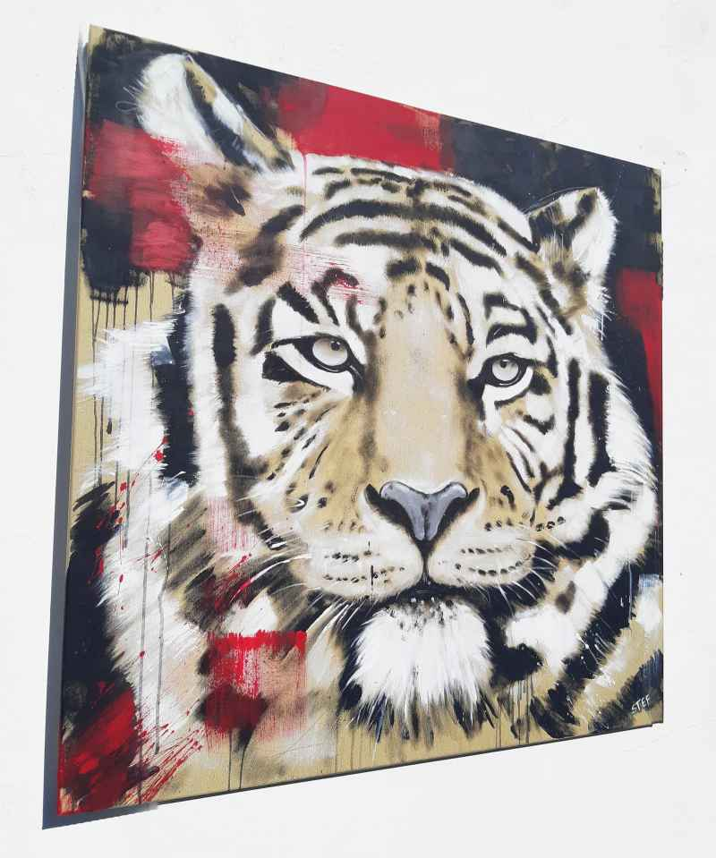 Tiger Gemälde Kopf