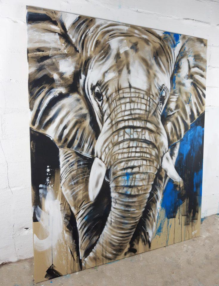 Original Elefant Gemälde