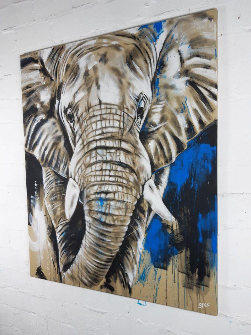 Original Gemälde Elefant